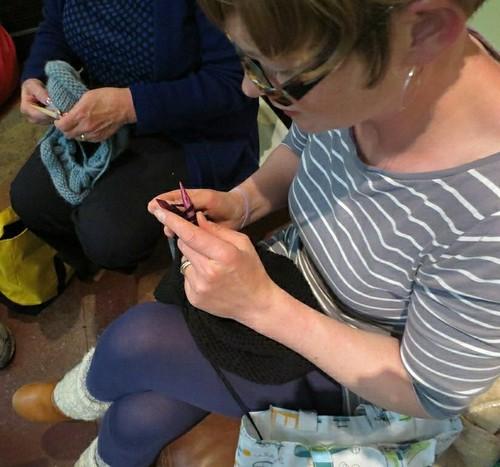 Karen knits