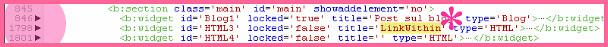 trova codice linkwithine espandi 1