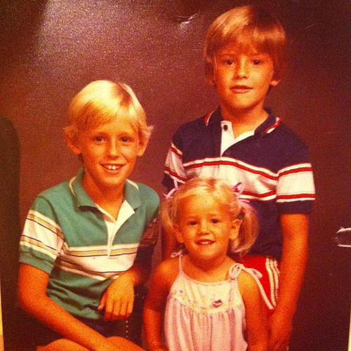1984 or 1985, the brothers and I. #tbt @xophmiller @cdfmatt