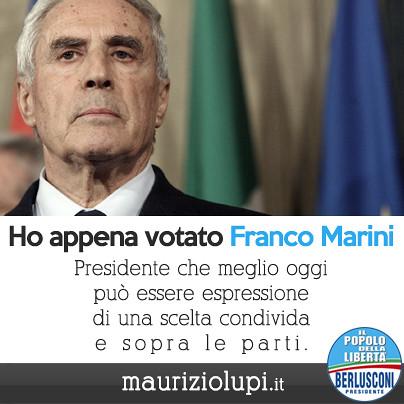Ho votato Franco Marini al Quirinale