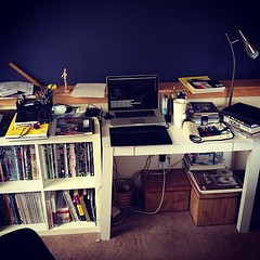 2 years ago, I owned < 100 things. Now I don\'t have any desk space. :(