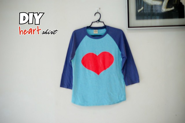 DIY heart print shirt