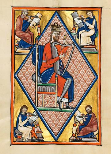 020-Salterio dorado de Múnich-1200-1225 d.C- Biblioteca Estatal de Baviera (BSB)