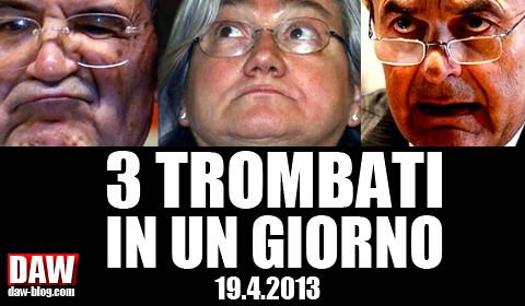 19.4.2013: TRE TROMBATI IN UN GIORNO! Salutiamo Romano PRODI, Rosy BINDI e Pier Luigi BERSANI – DAW blog/NEWS.com
