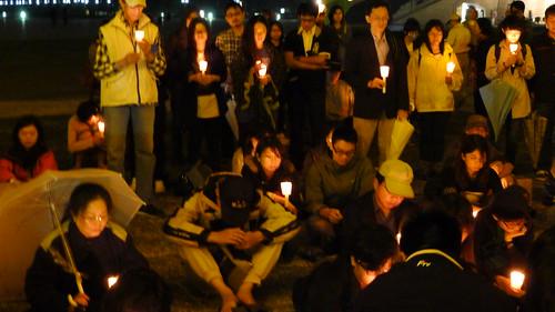 2013年在車諾比祭日當年,核四公投過一讀,「五六運動」數百人為此點蠟燭默哀