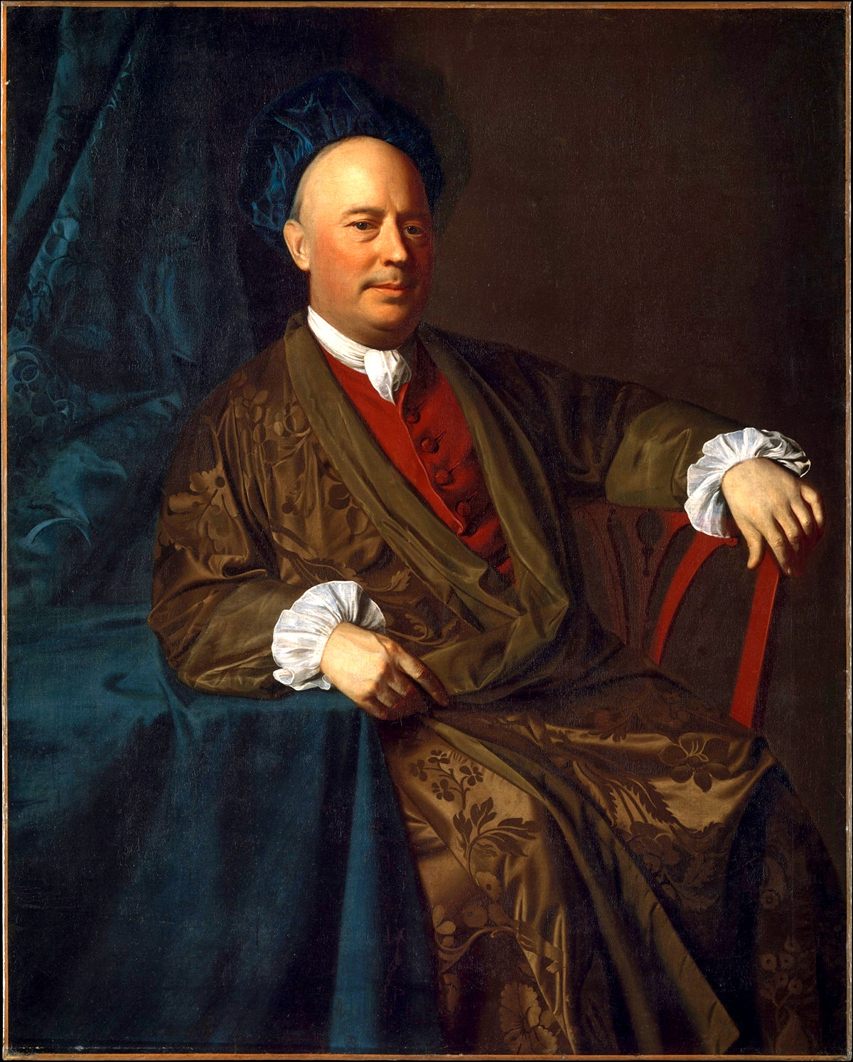 Joseph Sherburne (a wealthy Boston merchant wearing an elegant banyan) by John Singleton Copley, 1770