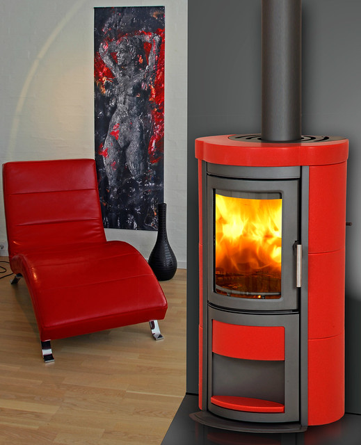 poele a bois design moderne ceramique fonte scan line heta. Black Bedroom Furniture Sets. Home Design Ideas