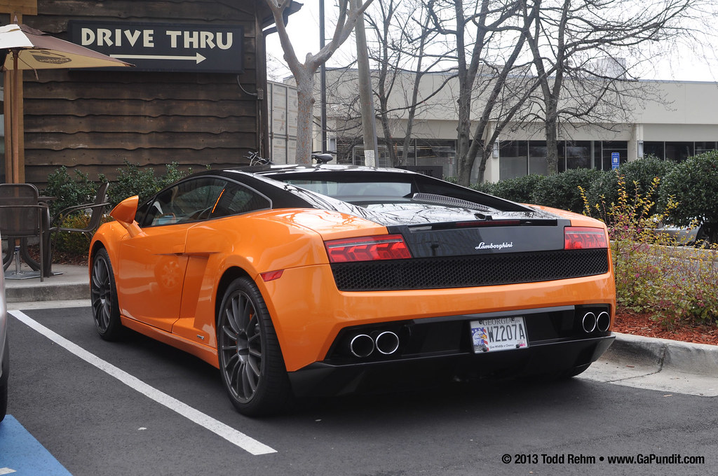 Orange Lamborghini Gallardo Atlanta