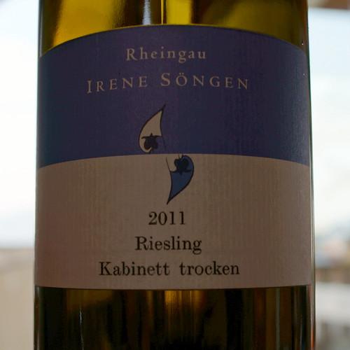 2011 Riesling Kabinett trocken, Irene Söngen in Hattenheim