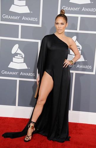 Jennifer Lopez. Premios Grammy, versión 55, febrero 10 de 2013, Staples Center, Los Angeles, California, Estados Unidos. Foto cortesía Canal TNT.