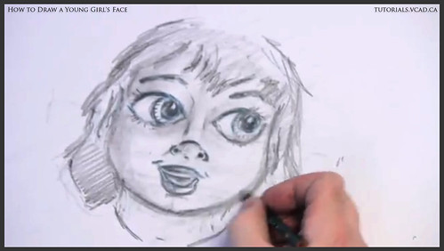 learn how to draw a young girls face 020