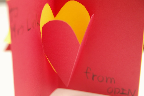 day 3146: odin's handmade pop-up valentine's day cards. II.