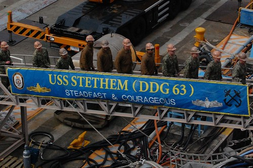 USS Stethem provided a shipwide tour for his fellow Seabees