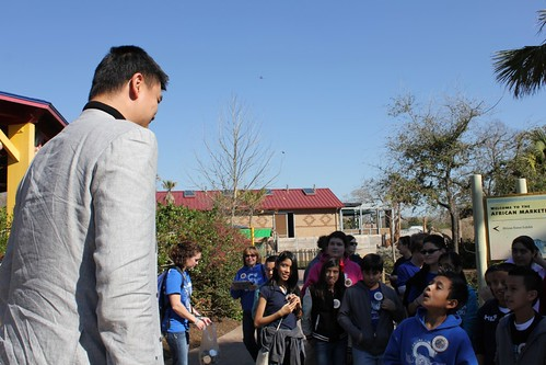 February 14th, 2013 - Yao Ming meets with some children at the Houston Zoo