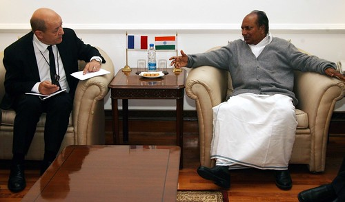 FRENCH DEFENCE MINISTER CALLING ON SHRI ANTONY by Chindits