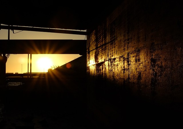Under the Bridge - sunset