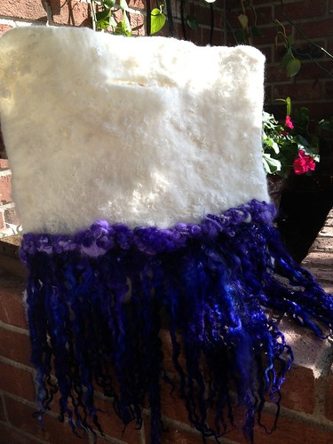 Wet felted long locks bag