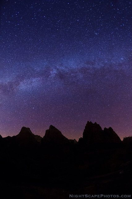 Milky Way over the Patriarchs - Zion NP