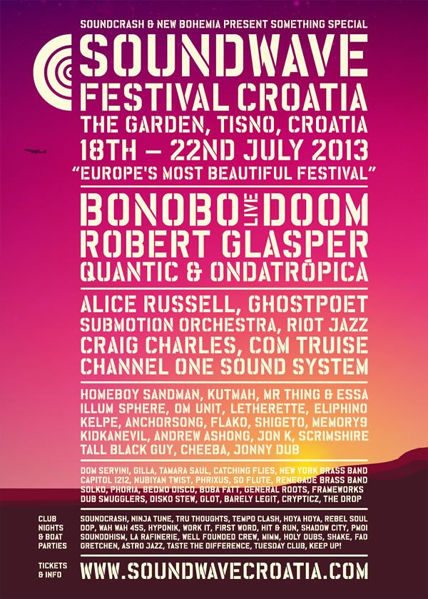 Soundwave Croatia 2013 Flyer
