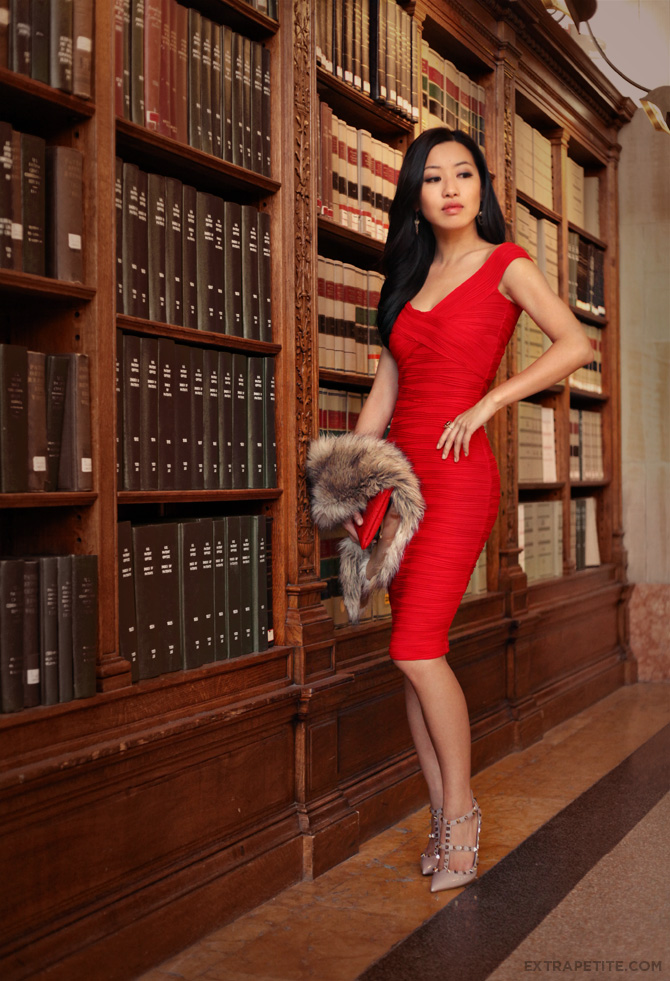 asos red dress boston public library6