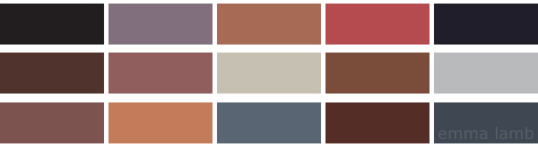 colour palette : eat chocolate! - curated by Emma Lamb