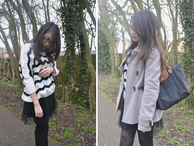 daisybutter - UK Style and Fashion Blog: what i wore, ootd, fashion blogger, high street fashion, transitional outfits, SS13, longchamp le pliage