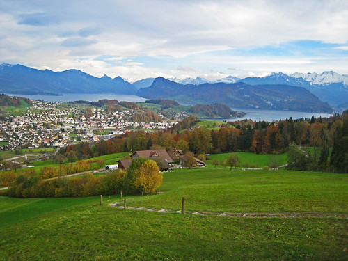 panorama mountains landscape switzerland view meadows villages lakelucerne horw cantonlucerne blinkagain