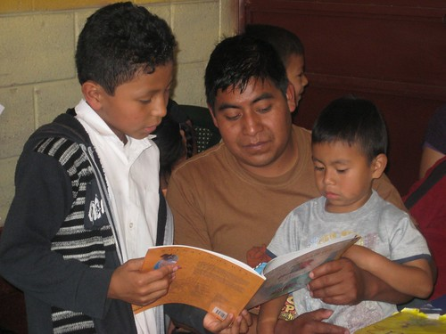 Reading is family time.