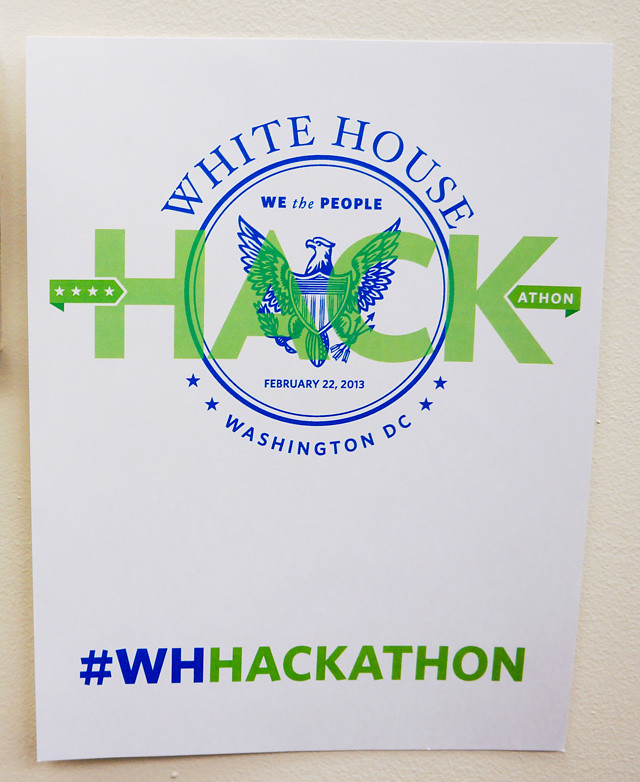 White House Hackathon poster