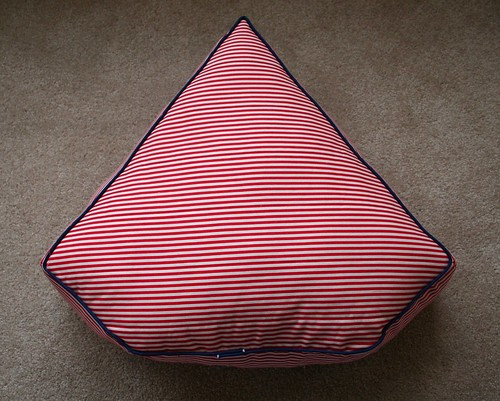 Sailboat Pillow Back