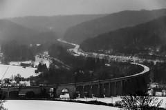 Balade dans la neige - Viaduc de Waville