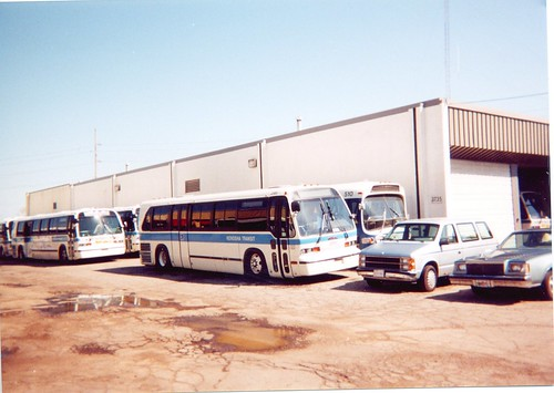 The Kenosha Transit bus garage.  Kenosha Wisconsin.  April 2000. by Eddie from Chicago