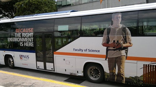 Marcus Chua NUS advert on bus