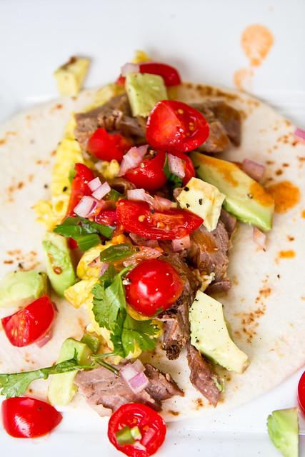 Breakfast Brisket Tacos