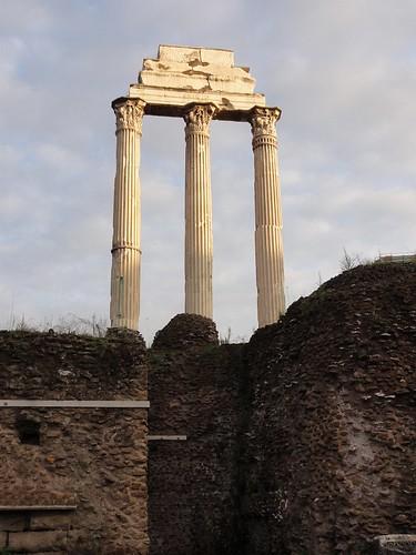 Classical roman columns