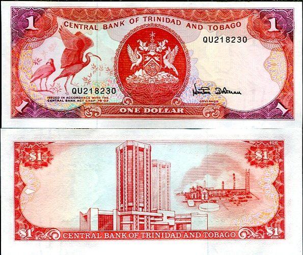 1 Dolár Trinidad Tobago 1985, Pick 36
