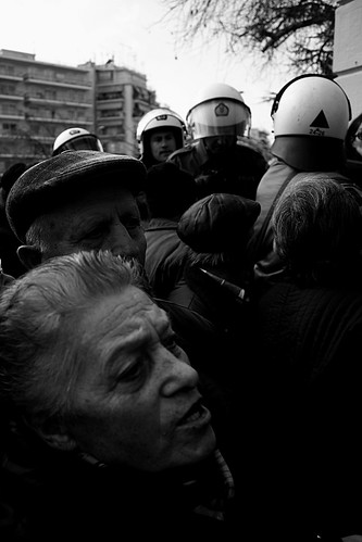 Riot police vs pensioners - Thessaloniki, Greece by Teacher Dude's BBQ