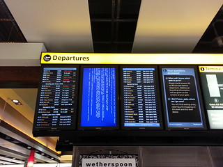 Departure board fail.