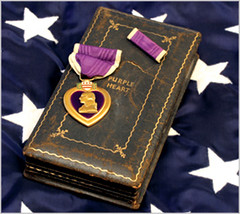Purple Heart medal and case