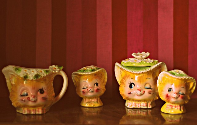Winking Kitties Tea Set