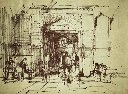 Bazaar- The Oldmen by Behzad Bagheri Sketches