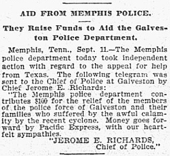 Jerome E Richards Dallas Morning News (Dallas, TX) Wednesday, September 12, 1900
