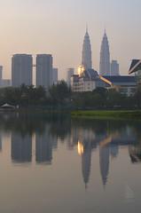 'Hazy Sunrise in Kuala Lumpur'