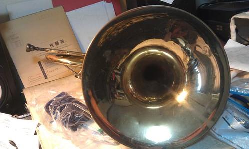 DIY Repair,YAMAHA Mellophone YMP201,003 by Kanda Mori