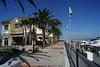 Marina @ Pittsburg, CA Sidewalk along the hourbor towards the bay.