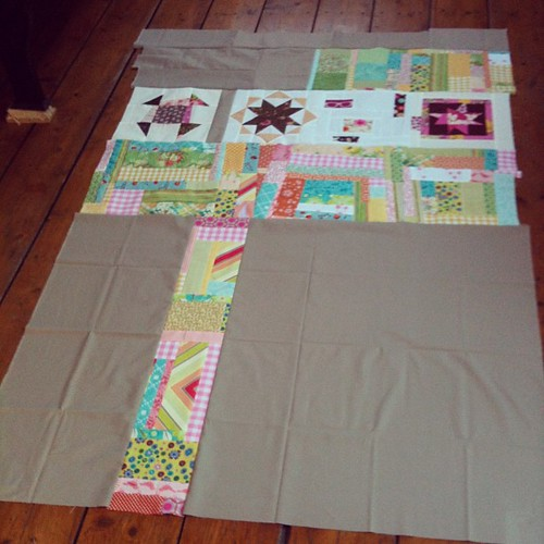 The quilt back is done!