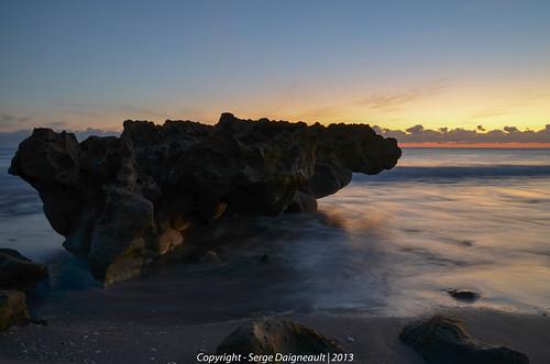 longexposure usa seascape rock sunrise florida tripod tequesta coralcovepark nikond5100 sigma1802500mmf3563
