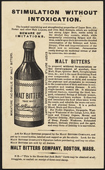 Malt Bitters - the purest and best medicine in the world for nourishing and strengthening and for overcoming dyspepsia, debility and wasting diseases. The house that Jack built. (back)