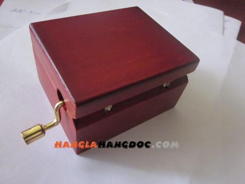 Hộp nhạc chất liệu gỗ - piano, loa phát nhạc cổ điển, hộp nhạc quay tay, vòng qu