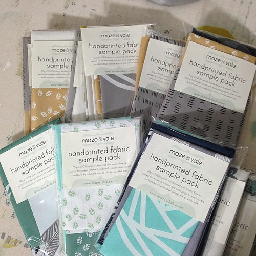 Surprise! I just listed 12 sample packs in my Etsy shop - go get 'em!! Http://www.etsy.com/shop/mazeandvale